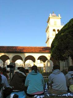 Student Altar service behind La Quinta (Spring 2012)