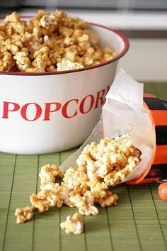 ********Caramel Popcorn - ABSOLUTELY FANTASTIC!!!!**********  Stored in quart size mason jars for visual appeal. Didn't last through the night. Co-workers loved it too.