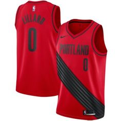 3e678f350 Damian Lillard Portland Trail Blazers Nike Swingman Jersey - Statement  Edition – Red