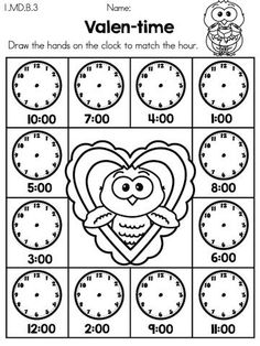Pumpkin Missing Alphabet Letters >> Part of the Autumn Kindergarten Language Arts Worksheets Packet. Language Arts Worksheets, Kindergarten Language Arts, Kindergarten Math Activities, Teaching Time, Valentines Day Activities, 1st Grade Math, Math For Kids, Math Classroom, Math Clock