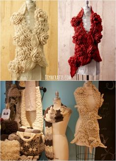 FREE Crochet Pattern: Gorgeous Irish lace Scarf with Roses