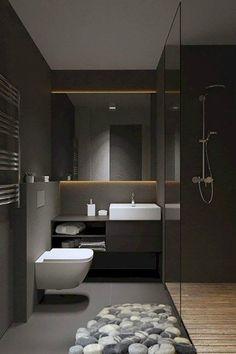 Bathroom Black Cabinets Modern Ideas For 2019 Wood Bathroom, Bathroom Flooring, Small Bathroom, Bathroom Ideas, Bathroom Mirrors, Basement Bathroom, Bathroom Faucets, Bling Bathroom, Bathroom Black