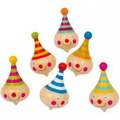 Wooden Clown Party Bag Fillers