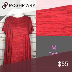Brand New With Tags Medium Carly The red/black heathered Carly is Beautiful! Perfect to dress up or down! Throw on some heels and some jewelry with this beauty! LuLaRoe Dresses High Low