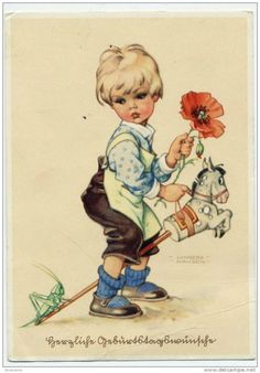 "Gallery.ru / Фото #1 - ""Мальчик на лошадке"" по рисунку Lungers Hausen - nata0179"