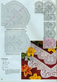 "Photo from album ""кайма крючком"" on Yandex. Crochet Edging Patterns, Filet Crochet Charts, Crochet Borders, Crochet Dollies, Crochet Art, Crochet Lace Collar, Lace Tape, Knit Edge, Needlepoint Stitches"