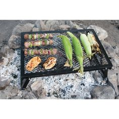 Convenient to use, this Camp Chef Lumberjack Steel Over Fire Grill offers a fun way to cook at the campfire. Camping Grill, Camping Tools, Camping Equipment, Camping Gear, Grilling, Backyard Renovations, Fire Grill, Camp Chef, Gifts For Campers