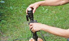 Brunnen: Tauchdruckpumpe anschließen