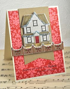 Holiday Home Card by Dawn McVey for Papertrey Ink (October 2012)