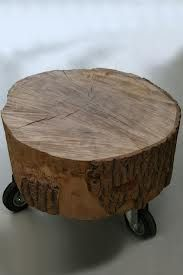 Stool made of a stump
