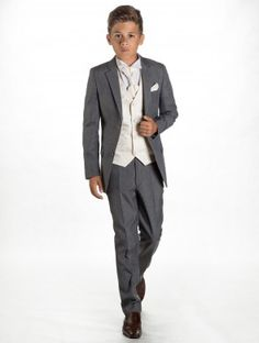 Boys grey & ivory suit - Charles