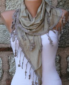 Grullo  Shawl Scarf - by fatwoman on Etsy, $17.00