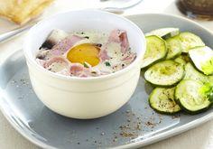 Oeufs cocotte jambon champignons et courgettes | Croquons La Vie - Nestlé
