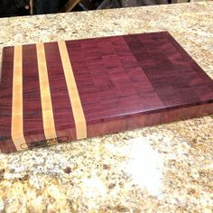 Items similar to Purple heart and hard maple end grain cutting board - FREE Shipping US on Etsy