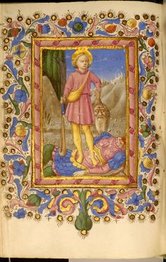 Leaf from Adimari Book of Hours, Zanobi di Benedetto Strozzi (Italian, 1412-1468)