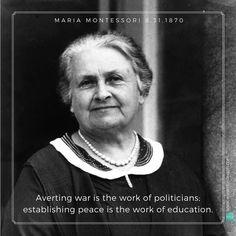 My most eloquent mentor. #montessori #mariamontessori #followthechild #peace #education Happy birthday 08-31-1870