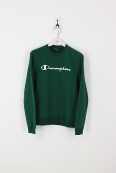 Green Champion Sweatshirt Ragstock ($25) ❤ liked on Polyvore ...