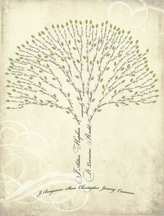 what a beautiful family tree! @Tara Laudie - what do you think??