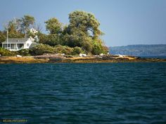 Sturdivant Island just off Cumberland, Maine. This property is listed by The Swan Agency Sotheby's International Realty.