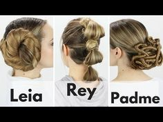 Recreate Star Wars hairstyles – from Princess Leia's Rey's iconic looks - Princess Leia Hair & Hair Wraps Thread My Hairstyle, Cute Hairstyles, Disney Hairstyles, Wedding Hairstyles, Makeup Hairstyle, Hairstyle Ideas, Costume Star Wars, Rey Costume Diy, Diy Starwars Costumes