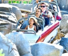 Halle Berry, Olivier, Nahla, & Maceo spending Father's Day in Disneyland - CA 6/15