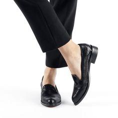 3fb2ef54b96a 💬1 - Slippers Femme Cuir Noir Façon Python - JULES   JENN - Dream Act