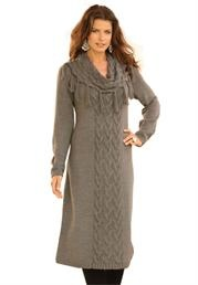 Plus Size Cowl Neck Sweater Dress image