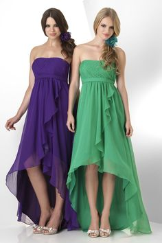 high lo chiffon bridesmaid dress - Google Search