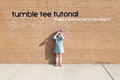 tutorial: sew a lined tumble tee dress with woven fabrics || imagine gnats