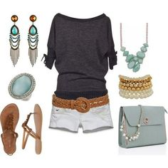 25 Summer Outfits {fashion 2012} - I Would Leave Out The Purse And The Necklace And Bracelet...love Everything Else