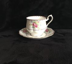 A personal favorite from my Etsy shop https://www.etsy.com/ca/listing/271488232/teacup-petit-point-china-royal-albert