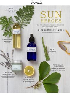 Our favorite summer skincare treatments  take a cue from nature