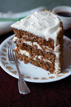 Spiced Carrot Layer Cake - Orange juice and zest, cinnamon, and ginger add verve and depth to this sumptuous cake. From Saveur.