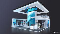 Exhibition Booth Design, Exhibit Design, Double Deck, Autodesk 3ds Max, Behance, Shape, Exhibition Stand Design