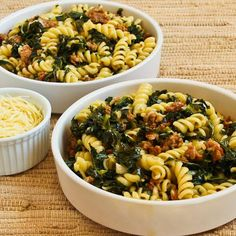 Recipe for Pasta with Hot Italian Sausage, Kale, Garlic, and Red Pepper Flakes