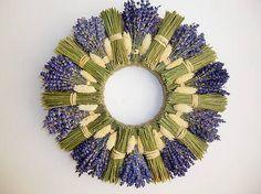 Lavender Wands, Lavender Crafts, Lavender Decor, Lavender Wreath, Lavender Flowers, Dried Flowers, Wreath Crafts, Diy Wreath, Flower Crafts