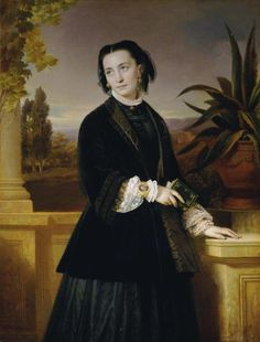 1851 Eduard von Engerth - Auguste Engerth, the wife of the artist
