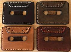 Vintage leather business card cases / Credit bank card holder / Discount card / Wallet / For men & woman Leather Diy Crafts, Leather Projects, Leather Craft, Leather Business Card Holder, Leather Key Holder, Leather Wallet Pattern, Handmade Leather Wallet, Card Case, Card Wallet