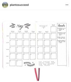 Bujo Month Layout by PlanToSucceed.