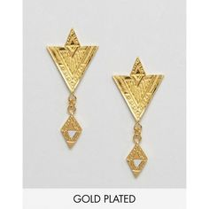 Gorjana Gold Plated Shae Drop Earrings (€49) ❤ liked on Polyvore featuring jewelry, earrings, gold, bullet earrings, drop earrings, gold plated drop earrings, gorjana jewelry and gorjana earrings