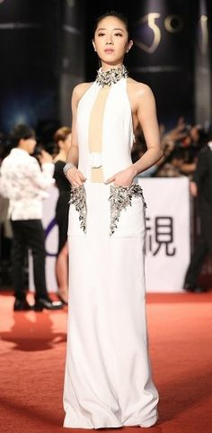 Kwai Lun-Mei in Alexander McQueen attends the Golden Horse Awards. #bestdressed