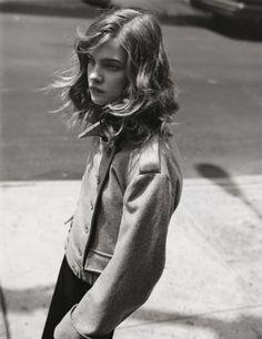 natalia vodianova. (love her effortless hair)