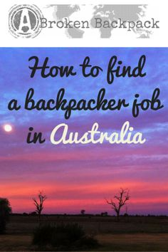 How to find a backpacker job in Australia - A Broken Backpack Jobs Australia, Time In Australia, Australia Travel, Australia Visa, Working Holiday Visa, Working Holidays, Holiday Jobs, Travel Jobs, Backpacking Tips