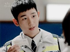 """heartou Just like several female characters stated in """"While You Were Sleeping,"""" Han Woo Tak's (or Jung Hae In's) looks in uniform are just Jung Hyun, Kim Jung, Asian Actors, Korean Actors, While You Were Sleeping, Joo Hyuk, Song Joong Ki, Movies Showing, Boyfriend Material"""