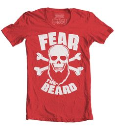 Men's High on Octane® Fear The Beard© Skull T-Shirt (Color Options) Bald With Beard, Epic Beard, Beard Styles For Men, Awesome Beards, Skull And Crossbones, Swagg, Mens Tees, Cool Shirts, Colorful Shirts
