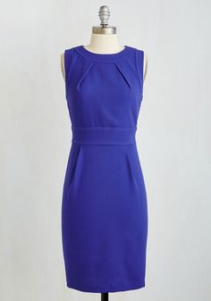 Clientele Me Everything Dress. Your customers cant wait to hear about your upcoming design projects, and theyre even more curious to hear the details about this sleek, sapphire blue sheath dress - arriving in July! #blue #modcloth