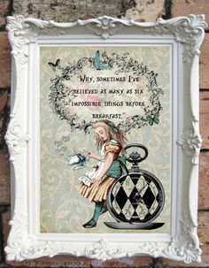 ALICE in Wonderland Decor Shabby Chic Decor. от OldStyleDesign