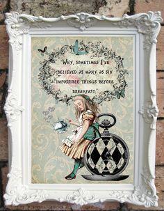 ALICE in Wonderland Decor Shabby Chic Decor. от OldStyleDesign