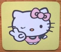 My hello kitty mousepad that I had bought from Yardsellr =)