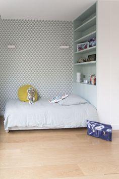 Pokój w kolorze mięty/ Camille Hermand Architectures